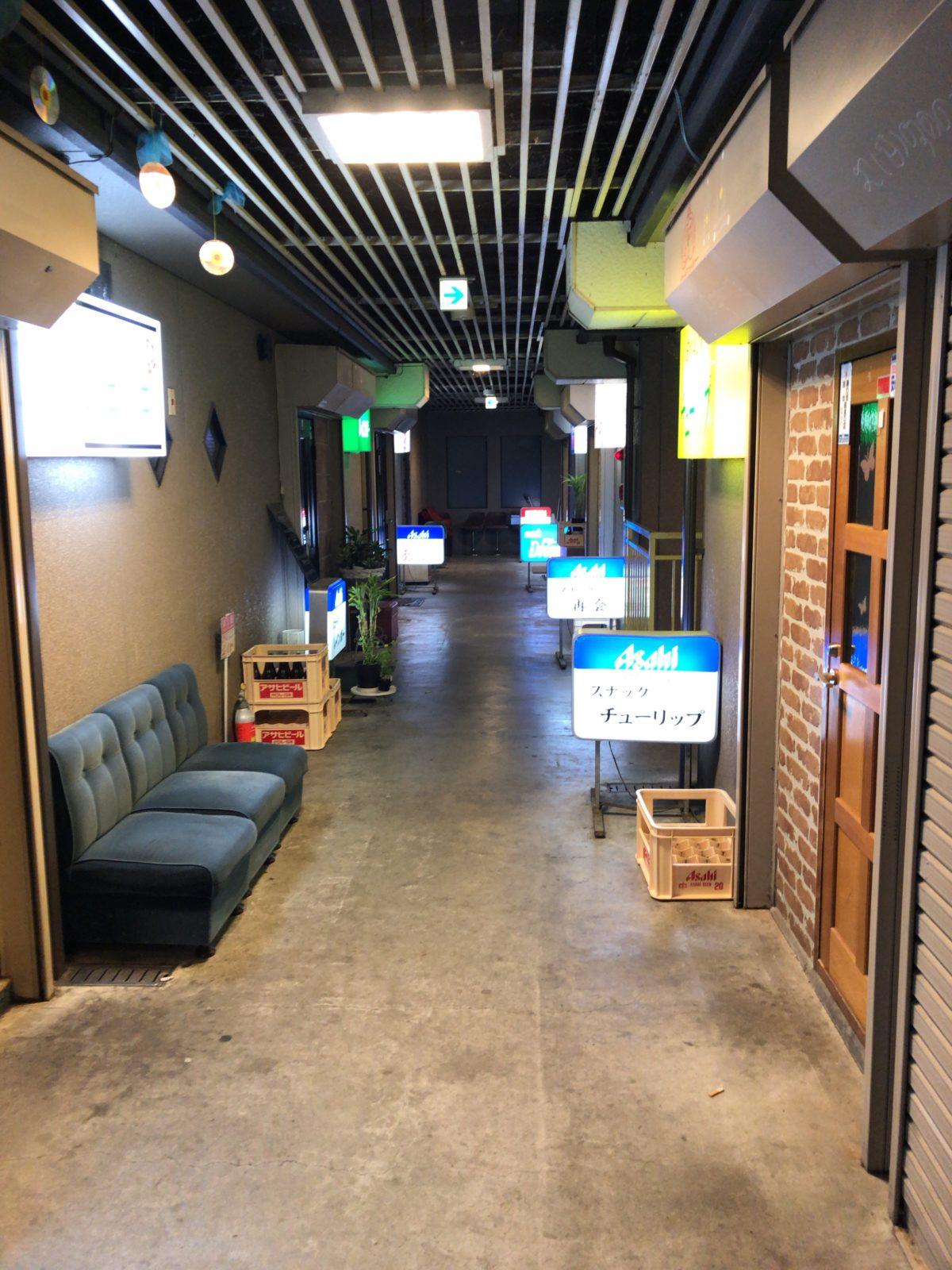 松本市西堀のスナック2階